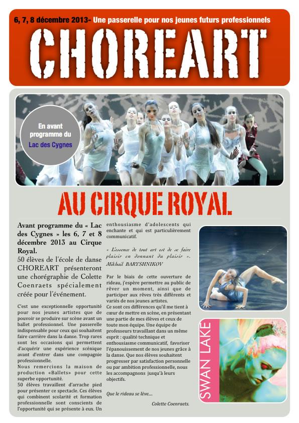 Annonce Cirque Royal 2013